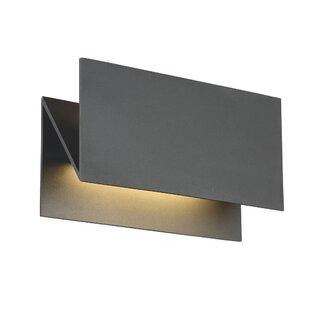 Stoker Zig-Zag 2-Light LED Outdoor Sconce by Orren Ellis