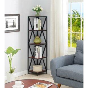Abbottsmoor Metal 5 Tier Corner Bookcase By Andover Mills