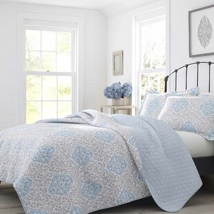 Winnie Cotton Reversible Quilt Set by Laura Ashley Home