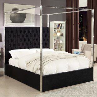 Pamala Upholstered Canopy Bed