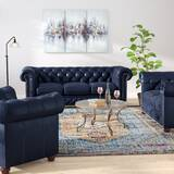 Forsyth Leather 3 Piece Living Room Set by Trent Austin Design