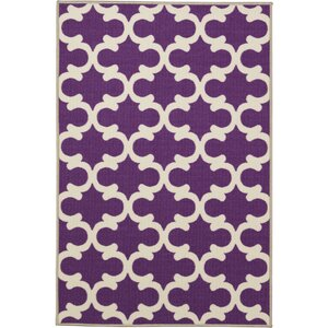 Orwell Machine Woven Purple Area Rug