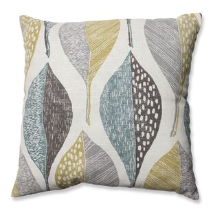 Burman Leaf Rain 100% Cotton Throw Pillow