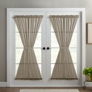 Delightful Wayfair Basics Solid Room Darkening Thermal Rod Pocket Single Curtain Door  Panel