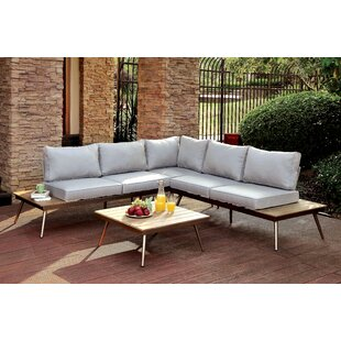 Brayden Studio Bendale Sectional Seating Group with Cushions