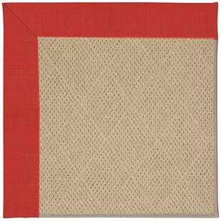 Lisle Machine Tufted Red Crimson/Brown Indoor/Outdoor Area Rug