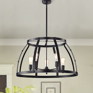 Shih 5-Light Lantern Pendant by Gracie Oaks