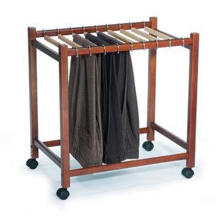 Reviews Pant Trolley 24.75 W Garment Rack By Woodlore