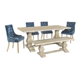 Champ Dining Set With 4 Chairs And One Bench By Fleur De Lis Living