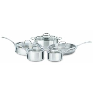 Tri-Ply Stainless Steel 10 Piece Cookware Set