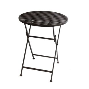 Folding Wrought Iron Bar Table By Sol 72 Outdoor