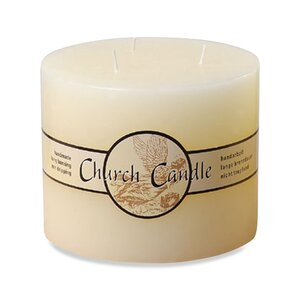 Angel Label Church Unscented Pillar Candle