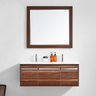 Adalynn 48 Double Bathroom Vanity with Mirror by Wrought Studio