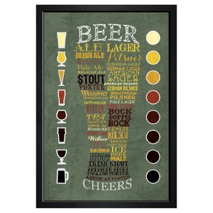 Beer Chart Framed Textual Art by Brayden Studio