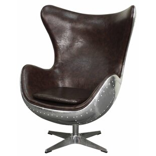 17 Stories Devaughn Swivel Rocker Wingback Chair