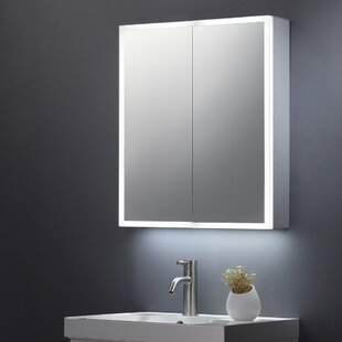 Crites 70cm W X 60cm H Wall Mounted Mirror Cabinet With LED Lighting By Belfry Bathroom