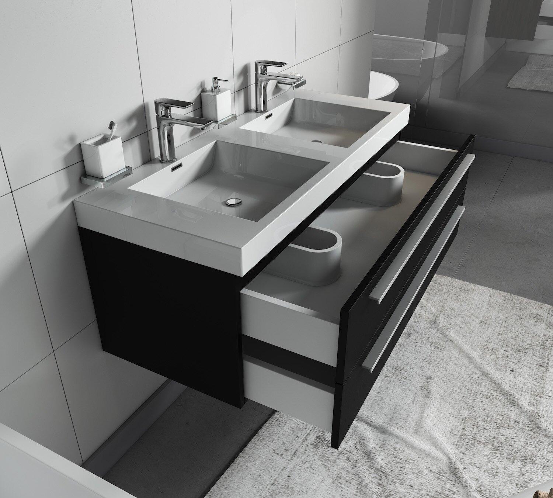 Belfry Bathroom Kailyn 1200mm Wall Hung Double Vanity Unit Wayfair Co Uk