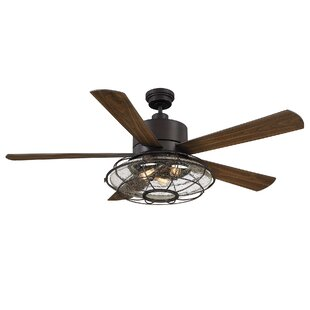 Ceiling fans joss main 56 roberts 5 blade ceiling fan with remote control mozeypictures Images