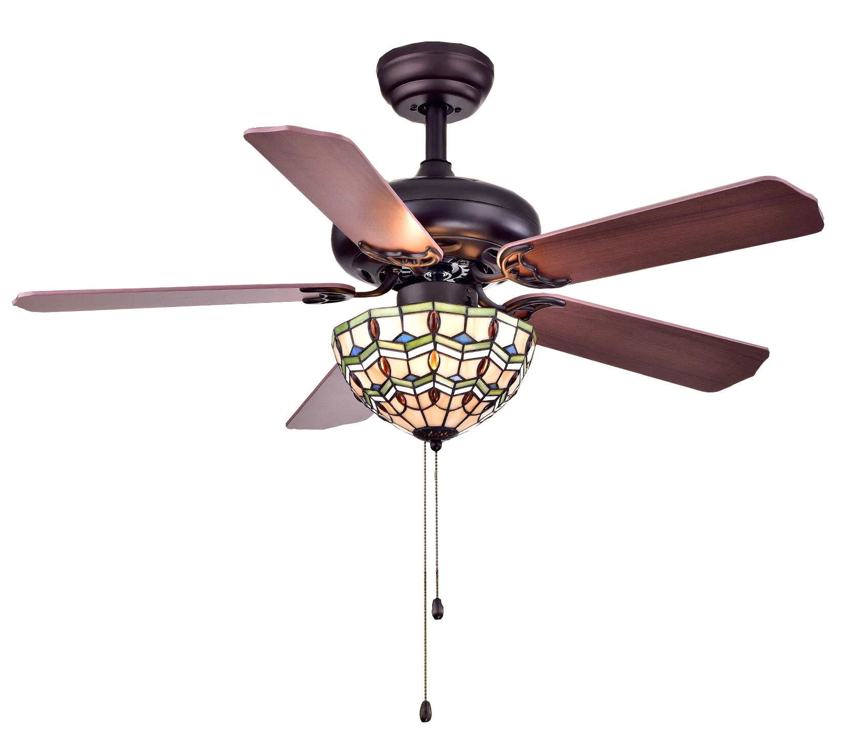 home blade tohva garden free black tiffany product light today style shipping ceiling overstock fan matte inch ivory
