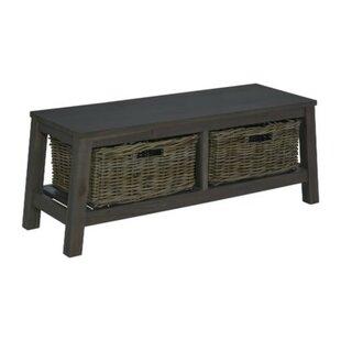 Gracie Oaks Vasbinder Wood Storage Bench