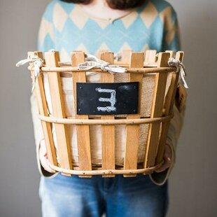 Bargain Rustic Linen Lining Handmade 3-Piece Wood Basket Set By Gracie Oaks
