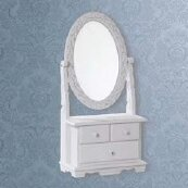 Sasha Oval Desser Mirror By Lily Manor
