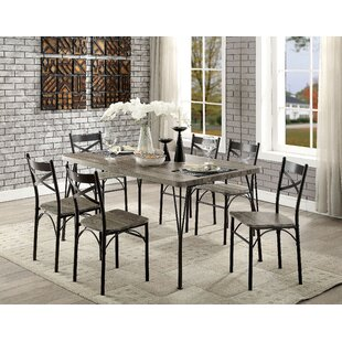 Landaverde Industrial 7 Piece Dining Set Union Rustic