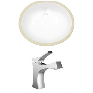 Find the perfect Ceramic Oval Undermount Bathroom Sink with Faucet and Overflow By American Imaginations