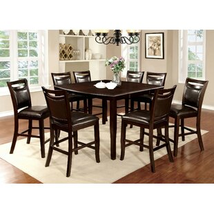 Faron 9 Piece Drop Leaf Dining Set