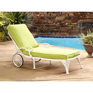Astoria Grand Van Glider Chaise Lounge with Cushion