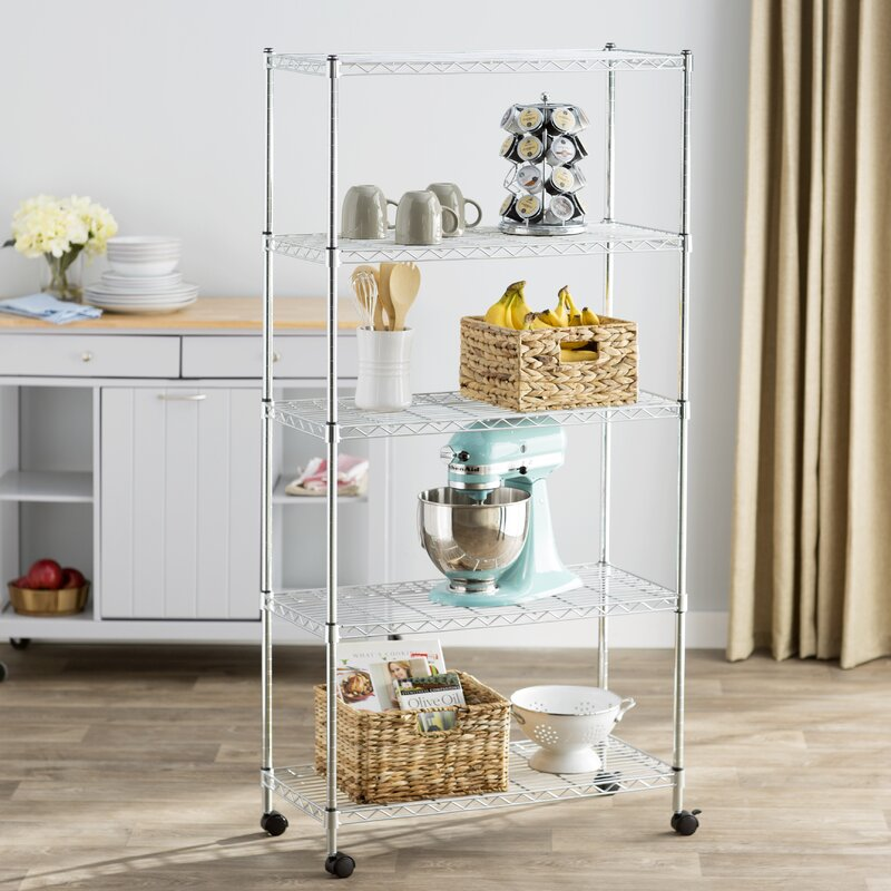 Kitchen Shelf Metal: Wayfair Basics™ Wayfair Basics 5 Shelf Wire Shelving Unit