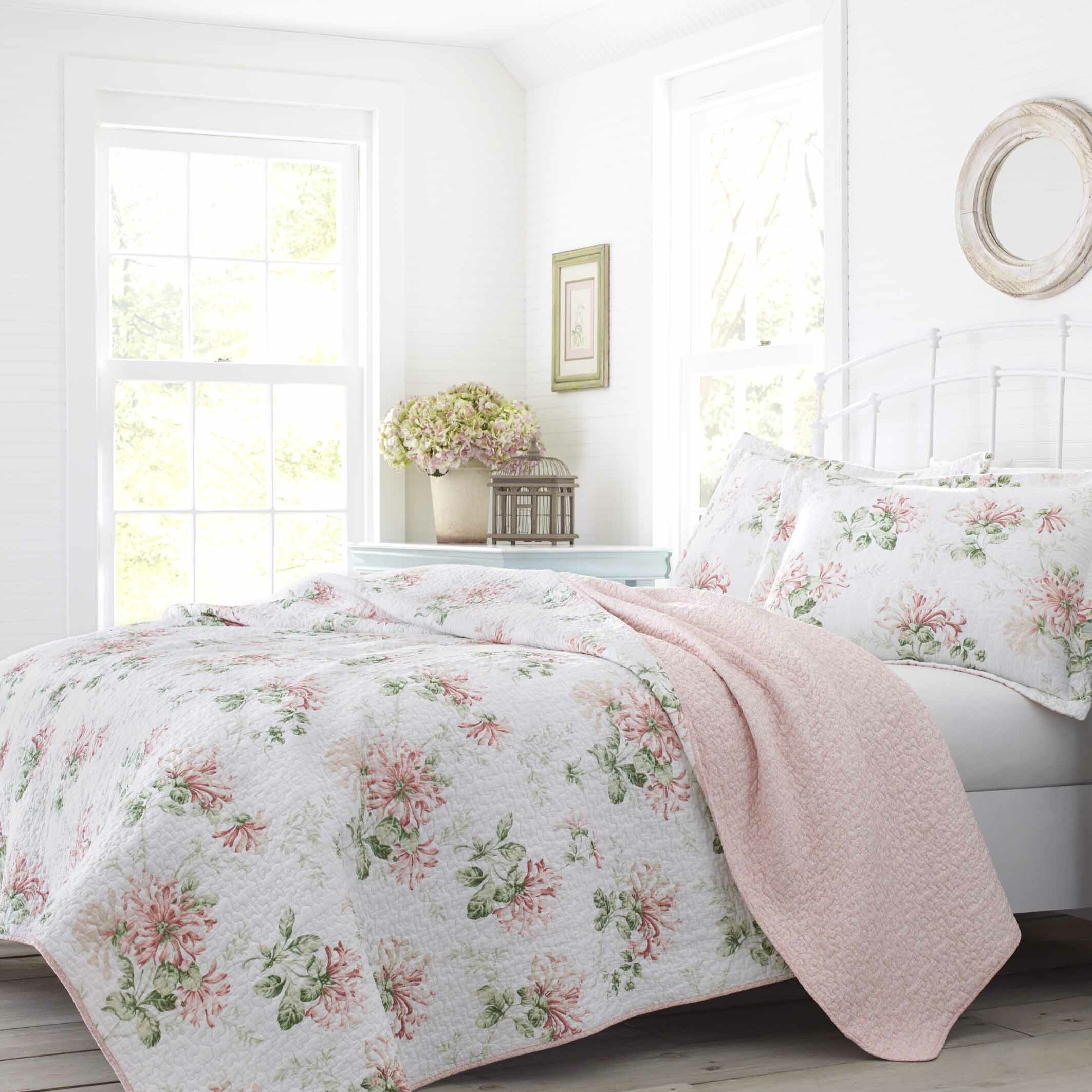 Miraculous Honeysuckle Cotton Reversible Quilt Set By Laura Ashley Home Download Free Architecture Designs Scobabritishbridgeorg