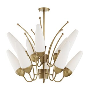 Corrigan Studio Despres 10-Light Shaded Chandelier
