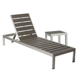 Ligon Chaise Lounge Set with Table (Set of 2)