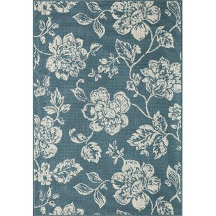 Kofi Blue/Ivory Indoor/Outdoor Area Rug