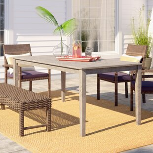 Solid Wood Dining Table by Beachcrest Home