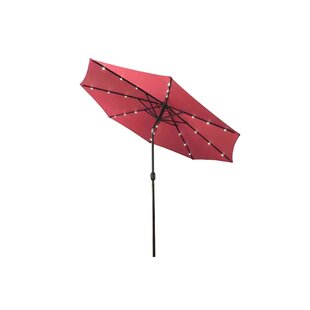Brayden Studio Emig 10' Lighted Umbrella
