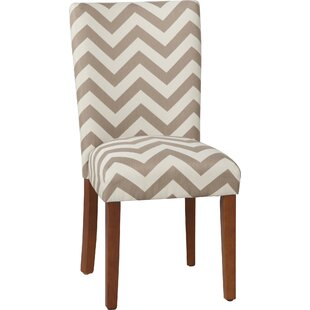 Ebern Designs Douglass Chevron Parsons Chair (Set of 2)