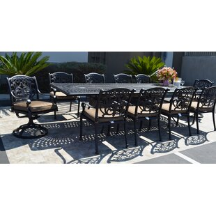 Darby Home Co Mifflinville 11 Piece Dining Set with Cushions