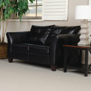 Russo Bonded Leather Loveseat by Red Barrel ..