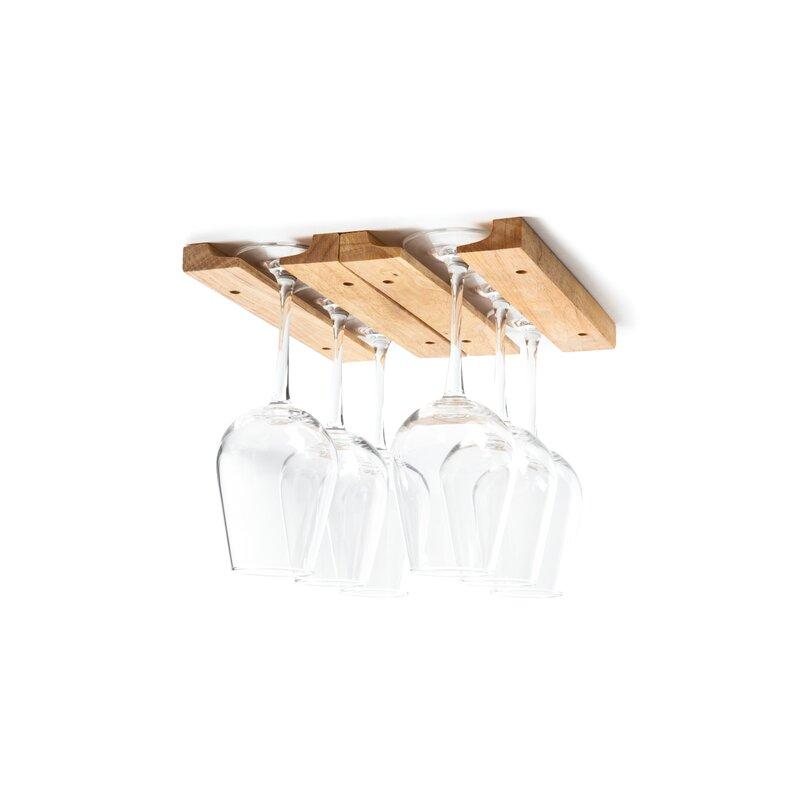 Wood Hanging Wine Glass Rack Reviews Joss Main