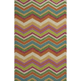 Rebecca Multi Chevron Indoor/Outdoor Area Rug By Latitude Run