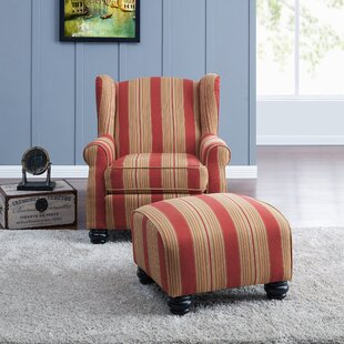 Peachy Brougham Wingback Chair And Ottoman Pabps2019 Chair Design Images Pabps2019Com