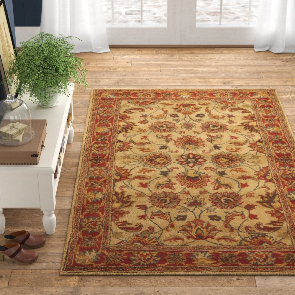 Niccolo Floral Handmade Tufted Wool Camel Area Rug Reviews Birch Lane