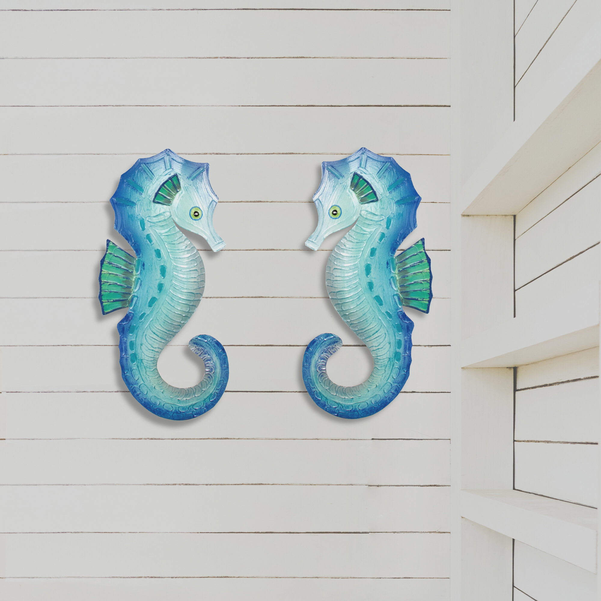 Rosecliff Heights 2 Piece Seahorse Metal Beach Wall Decor Set Reviews