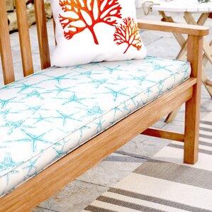 Delightful Starfish Indoor/ Outdoor Corded Bench Cushion