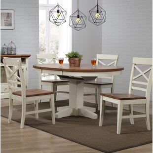 Hayden 5 Piece Extendable Solid Wood Dining Set Ophelia & Co.