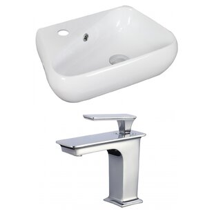 Online Reviews Specialty Ceramic Specialty Vessel Bathroom Sink with Faucet and Overflow ByAmerican Imaginations