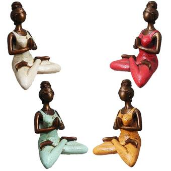 World Menagerie Alorton Yoga Woman Figurine Reviews Wayfair