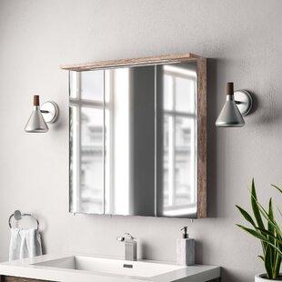 Renteria 70.5cm X 72.5cm Mirror Cabinet With Lighting By Borough Wharf